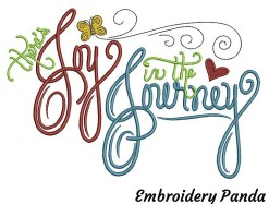 Joy in the Journey - Emboidery Panda