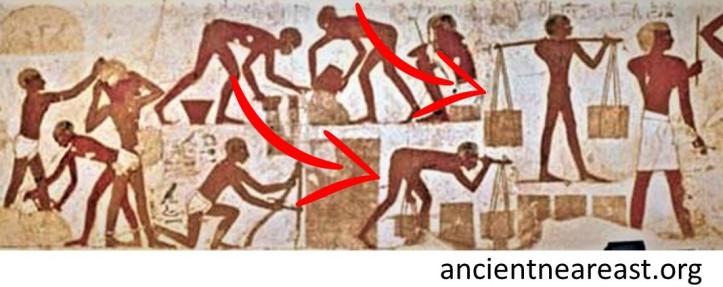 Slaves making bricks