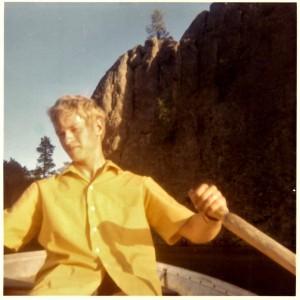 Dave rowing lake